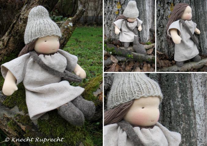 Puppenmädchen Wurzelkind Leinenkleid6-1
